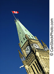 Peace Tower - The Peace Tower On Parliament Hill, Ottawa,...