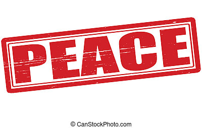 Peace - Stamp with word peace  inside, vector illustration