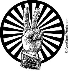 Peace Victory Hand Sign
