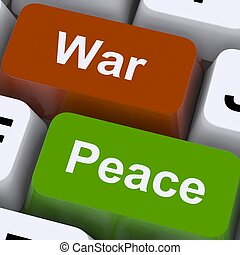 Peace War Keys Shows No Conflict Or Aggression - Peace War...