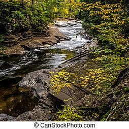 Peaceful Autumn Waterfall