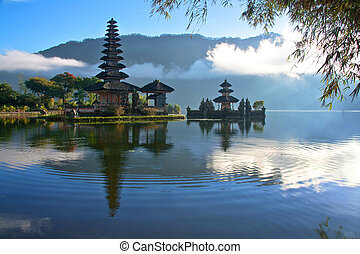 Peaceful Bali  - Peaceful view of a Lake at Bali Indonesia