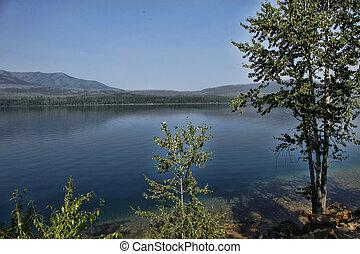 Peaceful Blue Lake