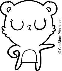 peaceful cartoon bear