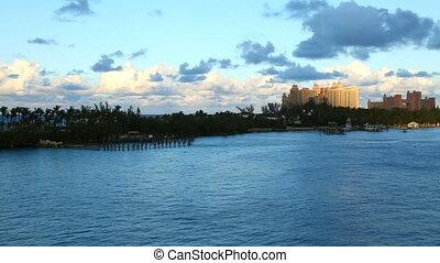 peaceful coastline of Bahamas,Bahamas,august 2016.