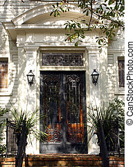 Peaceful Entrance - Entrance to southern antebellum home