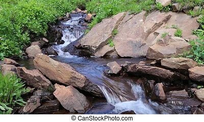Peaceful, Gurgling Mountain Stream