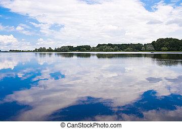 Peaceful lake in Nesvizh, Belarus