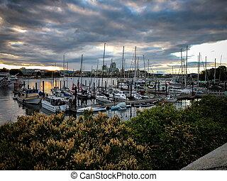 Peaceful little port