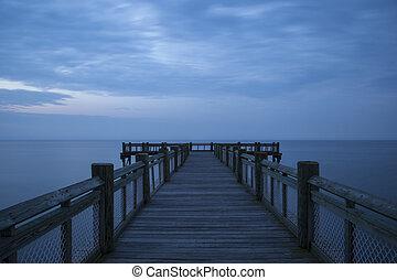 Peaceful mornig pier