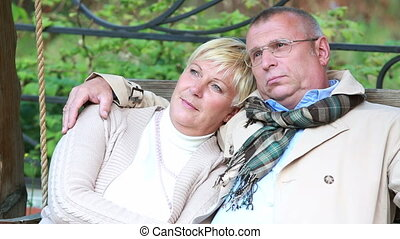 Peaceful retirement - Lovely senior couple enjoying peaceful...
