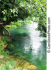 Peaceful river - View of a magnificent peaceful river in...