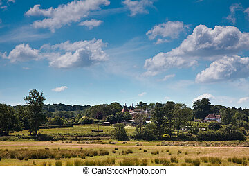 Peaceful scenic view over the sussex countryside