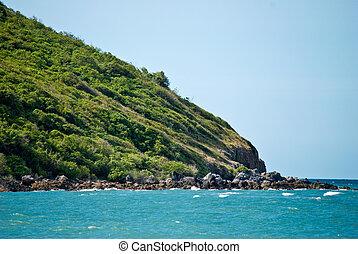 peaceful seascap with blue sky