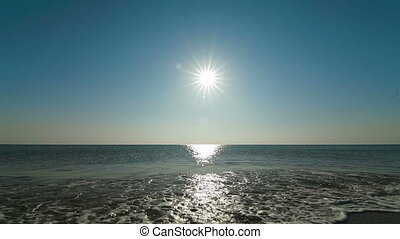 Peaceful Seascape - seascape with sea and sun Black Sea,...