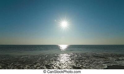 seascape with sea and sun Black Sea, Crimea, Yevpatoria. Canon 5D Mark II