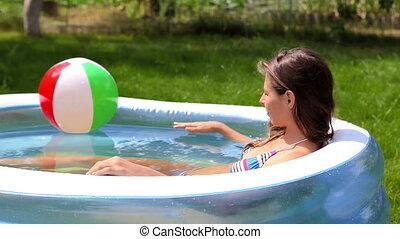Peaceful summer - Smiling young woman spending her peaceful...