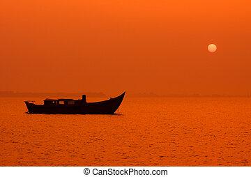 peaceful sunset night