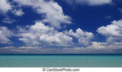 Peaceful tropical sescape camera tilt down - Camera tilt...