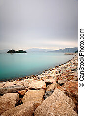 peaceful water bay