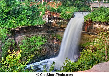 Peaceful Waterfall in High Dynamic Range - Beautiful...