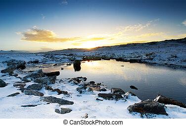 Peaceful Winter Brook - Moody Brook in the Falkland Islands