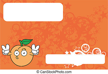 peach cartoon background20