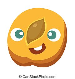 Peach Cartoon character vector illustration