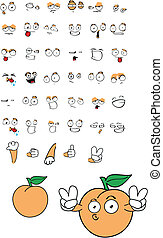 peach cartoon set10 - peach cartoon set in vector format