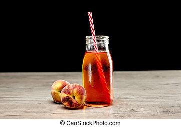 Peach cold refreshment