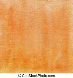 peach color watercolor abstract with canvas texture