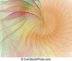 Peach Cream Spiral Abstract
