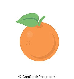 peach  flat color icon