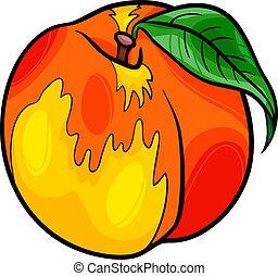 peach fruit cartoon illustration