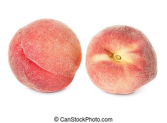 peach fruit isolated on white background