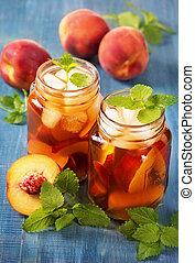 Peach iced tea