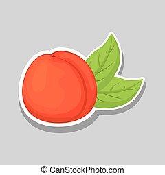 peach icon design , vector illustration