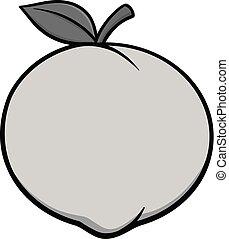Peach Icon Illustration