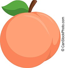 Peach. - Isolated icon pictogram. Eps 10 vector illustration...