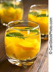 Peach, Lemon Balm and White Wine Punch