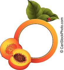 Peach Photo Frame - Scalable vectorial image representing a...