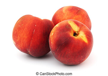 peach pile isolated on white