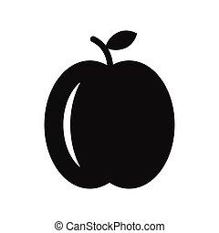 Peach simple icon