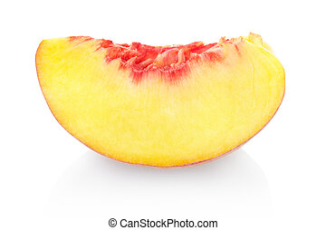 Peach slice with clipping path