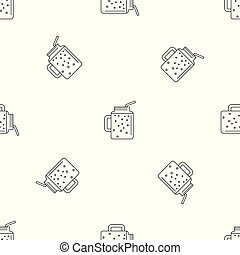 Peach smoothie pattern seamless vector