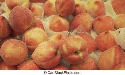 Peach sold in supermarket - Peach sold in the supermarket