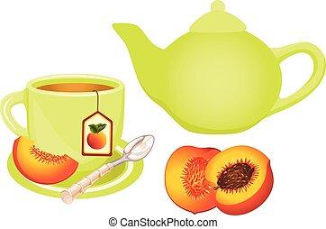 Peach Tea Set