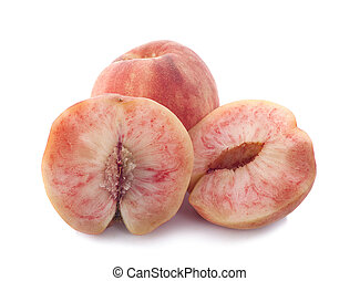 Peach with isolated on white background