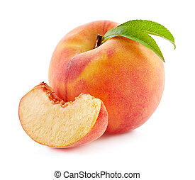 Peach with slice