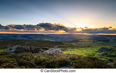 Peak District - A beautiful sunset in the Peak District